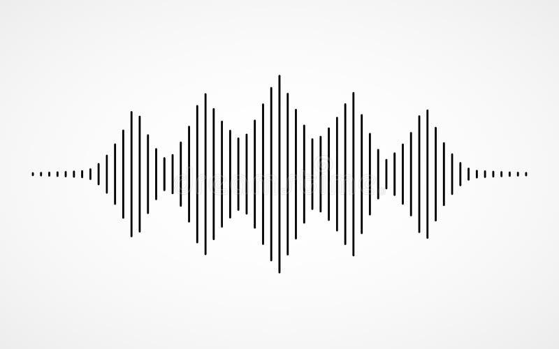 sound waves för musik vektor illustrationer