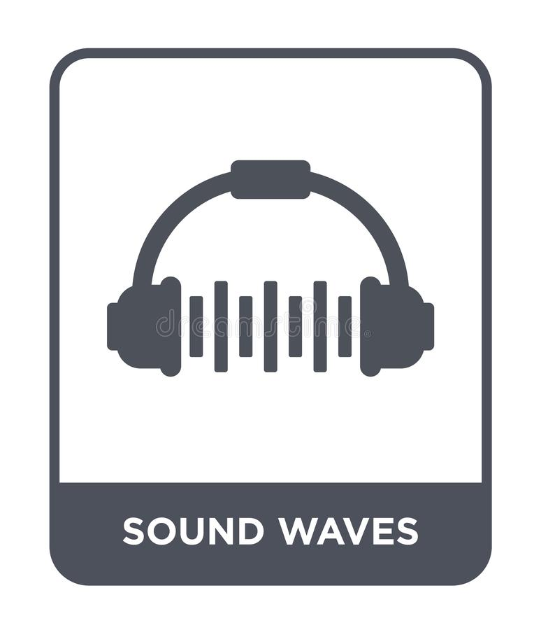 sound waves icon in trendy design style. sound waves icon isolated on white background. sound waves vector icon simple and modern vector illustration