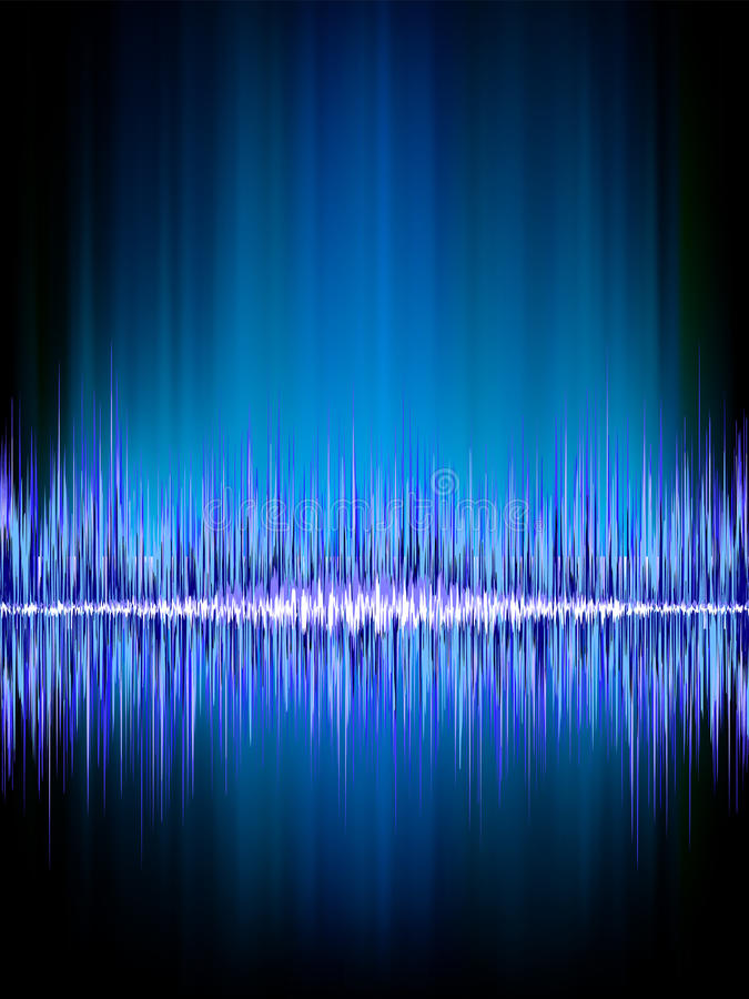 Free Sound Waves Oscillating On Black. Stock Photo - 32375390