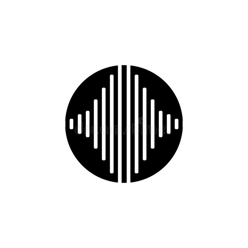 Sound waves vector illustration vector illustration