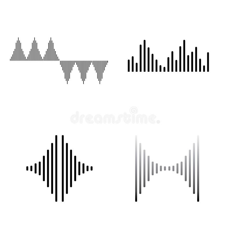 Sound waves vector illustration stock illustration