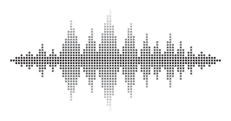 Sound Waves. On white background