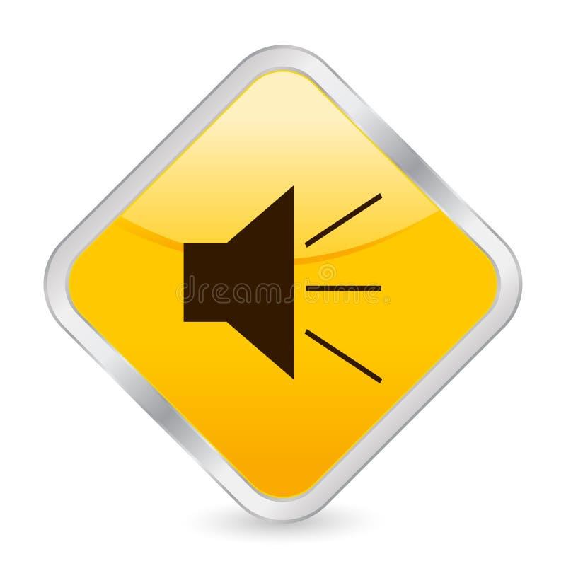 Sound yellow square icon stock illustration