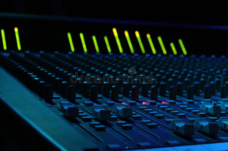 Soundboard Faders Royalty Free Stock Photo