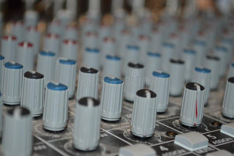Soundboard kontrola zdjęcie stock