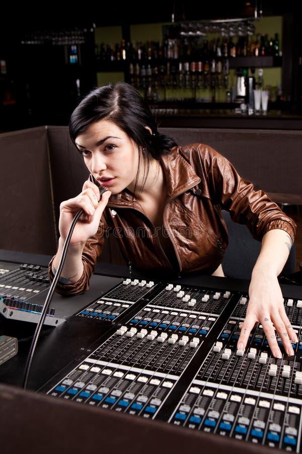 soundboardtekniker arkivfoton