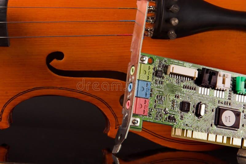 soundcard muzyki. zdjęcie stock