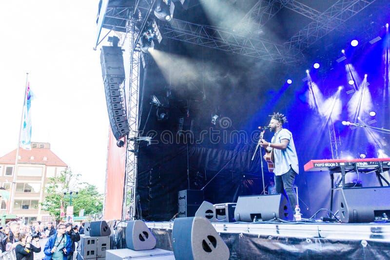 Soundcheck Freitag von Kiel Week 2019 stockfotografie