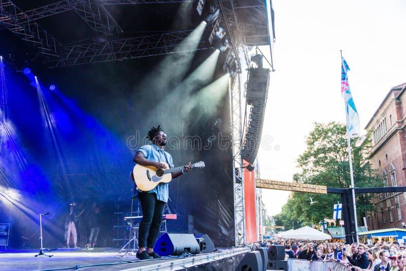Soundcheck Freitag von Kiel Week 2019 stockfoto