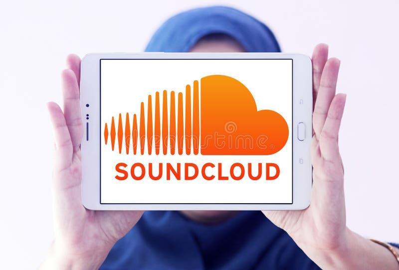 Soundcloudembleem royalty-vrije stock afbeelding