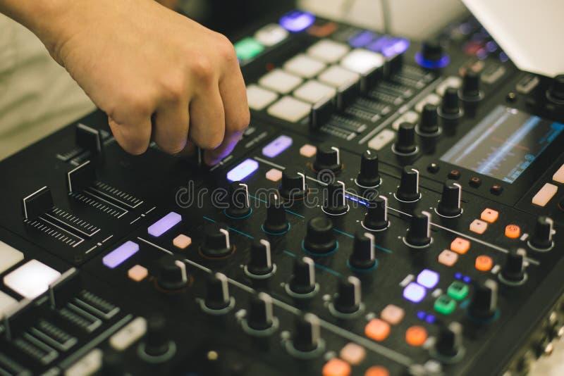 Soundman at audio board royalty free stock photos
