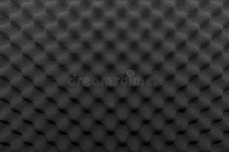 Soundproof wall in sound studio, background of sound absorbing sponge stock photography