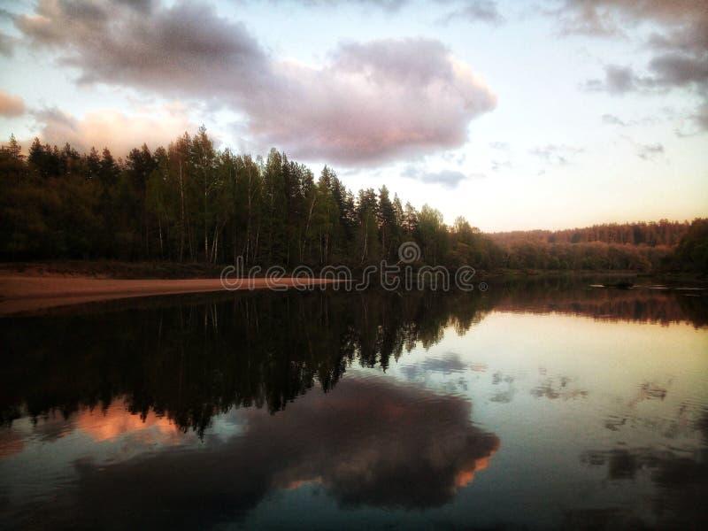 Sounds of Sunset. Meditation, mindfullness, silence stock photo