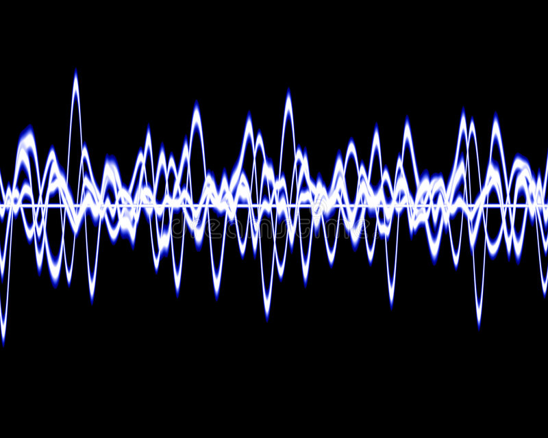Soundwave vektor illustrationer