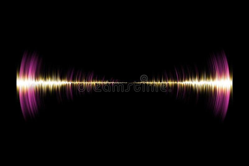 Soundwave de neón colorido libre illustration