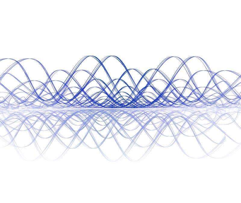 Soundwave fresco com reflexão ilustração royalty free