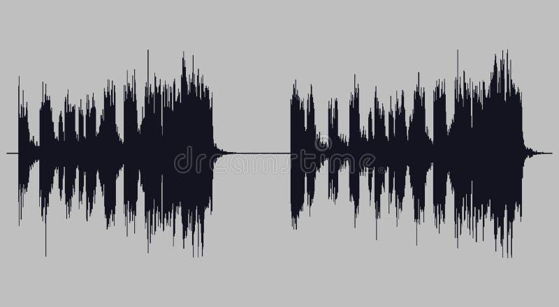 Soundwave illustration vector art. Close up soundwave illustration on a gray background vector illustration