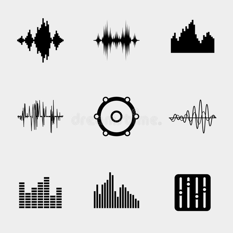 soundwave music icons stock vector  illustration of icon