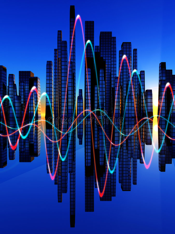 Free Soundwaves Mix Royalty Free Stock Images - 8083429