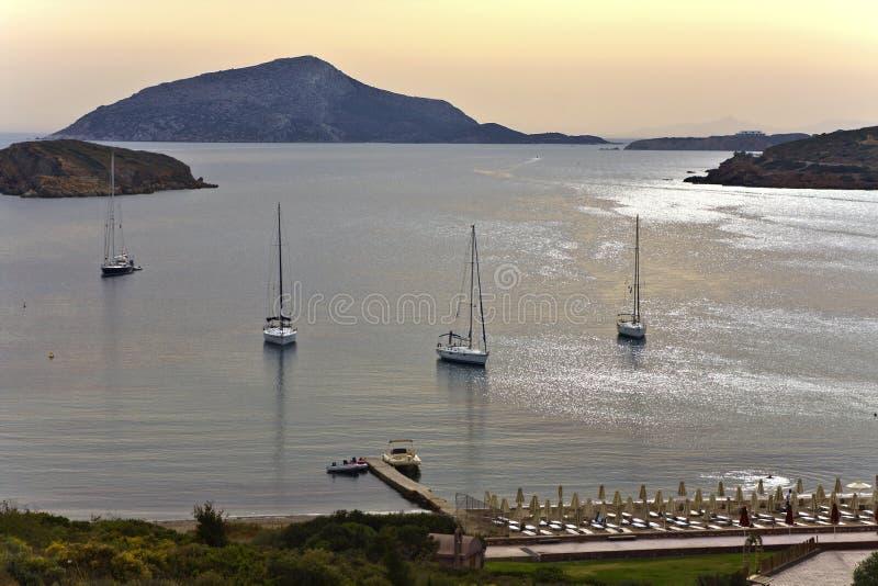 Souniogebied van de kaap in Griekenland royalty-vrije stock fotografie