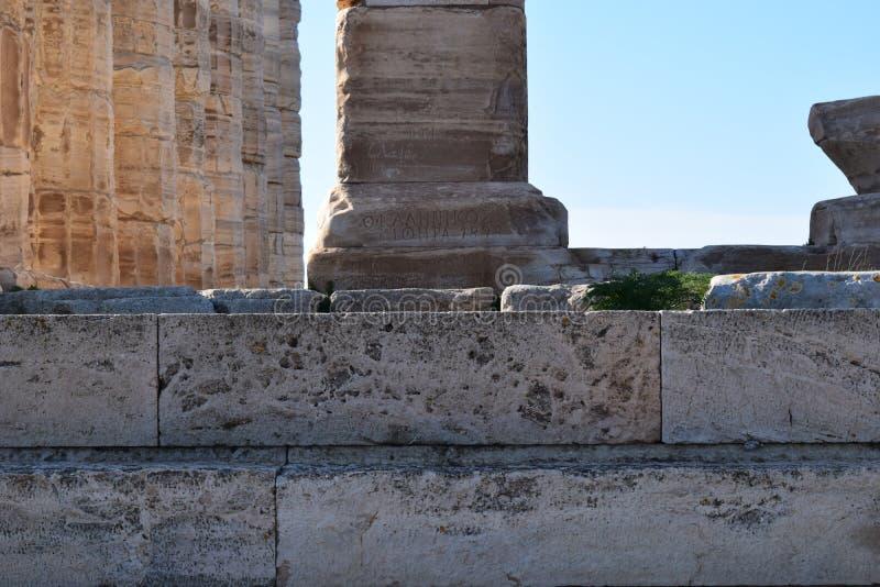 Sounion der altgriechische Tempel von Poseidon lizenzfreies stockbild