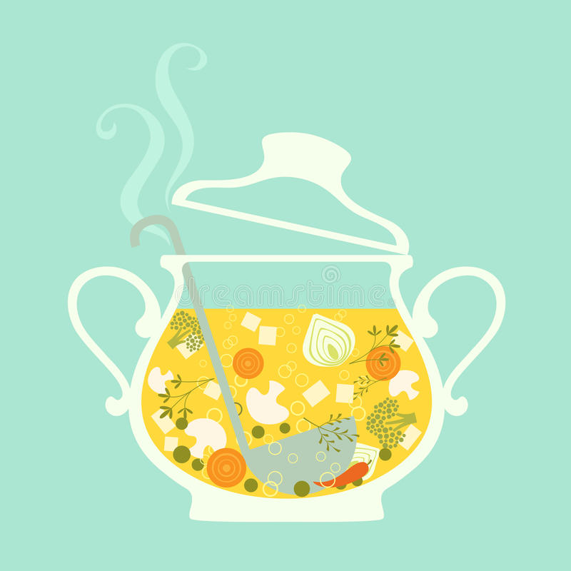 soup royaltyfri illustrationer