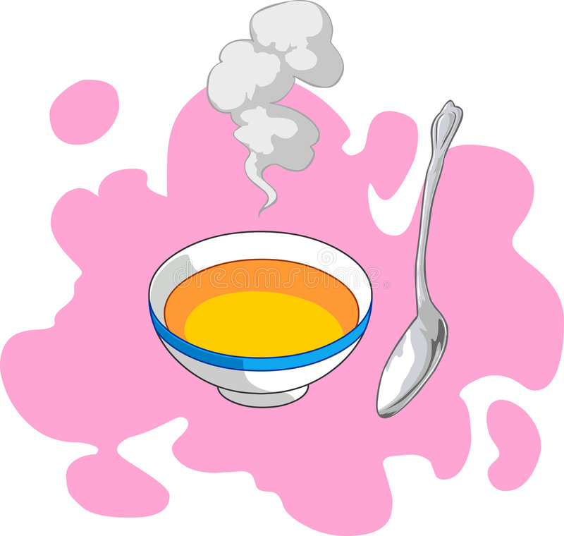 Download Soup stock vector. Image of pepper, delicious, dish, clipart - 5351137