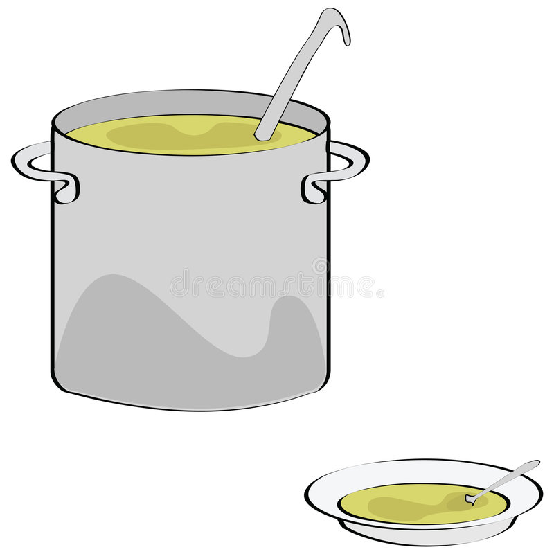 Download Soup stock vector. Illustration of kitchen, casserole - 6662449