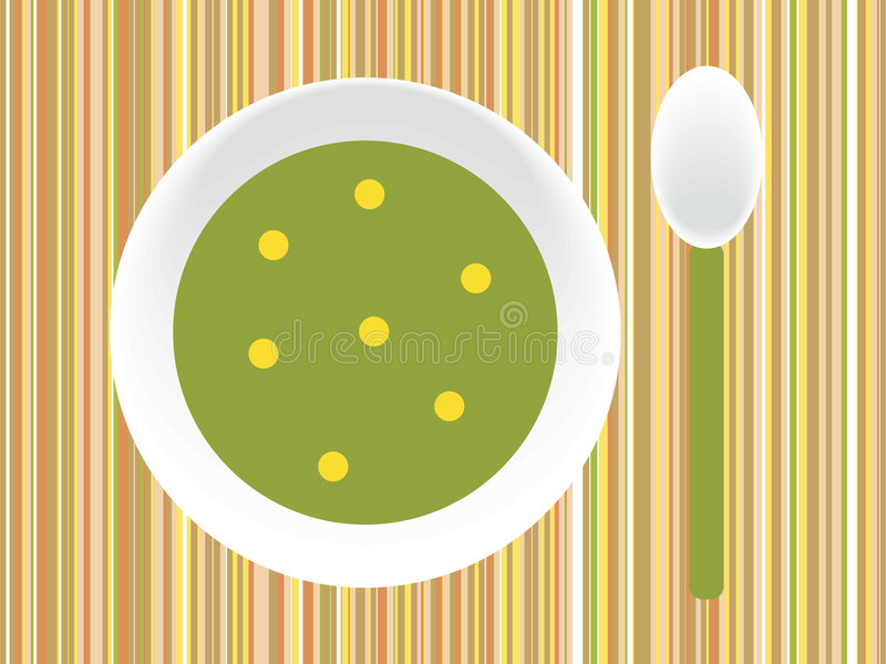 Download Soup stock vector. Illustration of vegetarian, green, delicious - 6715146