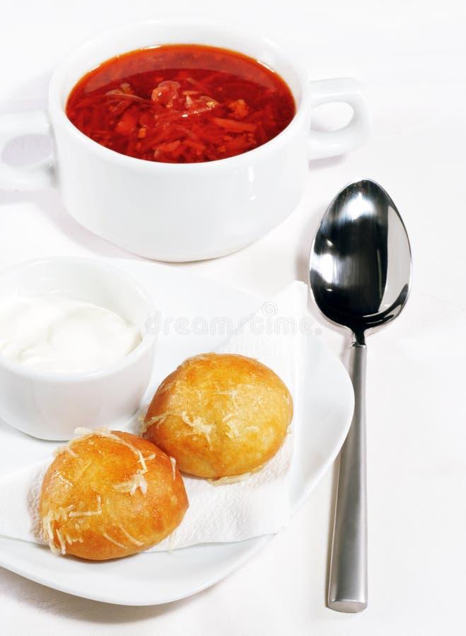 Soup - Borscht royalty free stock image