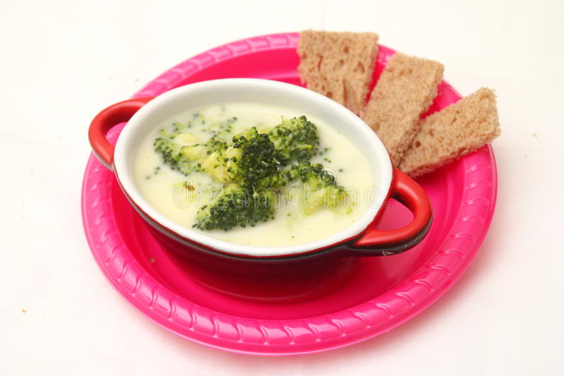 Soup of broccoli stock image