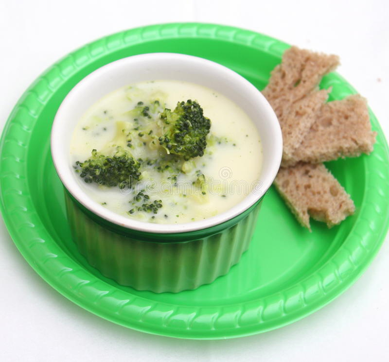 Soup of broccoli stock photography