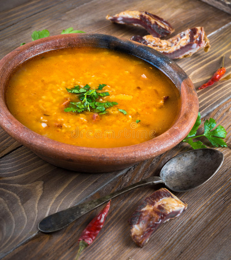 Download Soup stock image. Image of soup, wooden, lamb, healthy - 39513763