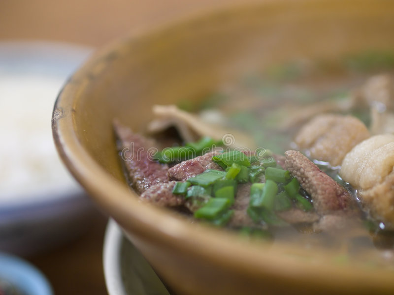 soup för leverporkstöd royaltyfria bilder