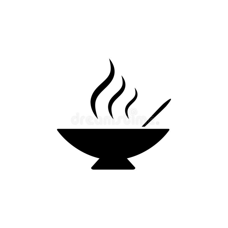 soup, hot, plate, spoon icon. Simple glyph vector element of Food icons set for UI and UX, website or mobile application vector illustration