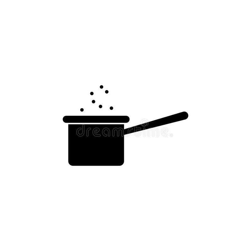 Soup pan icon. Simple glyph vector element of Food icons set for UI and UX, website or mobile application. On white background royalty free illustration