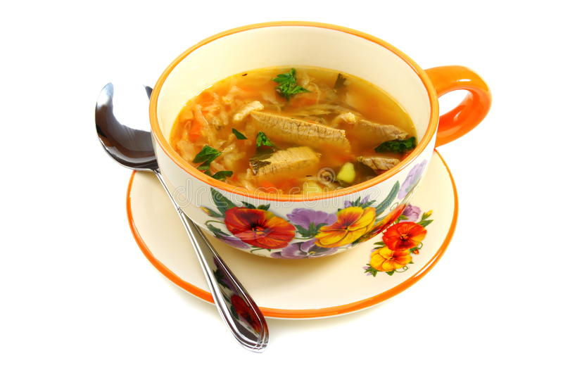 Soup of the sauerkraut in a bowl. royalty free stock photo
