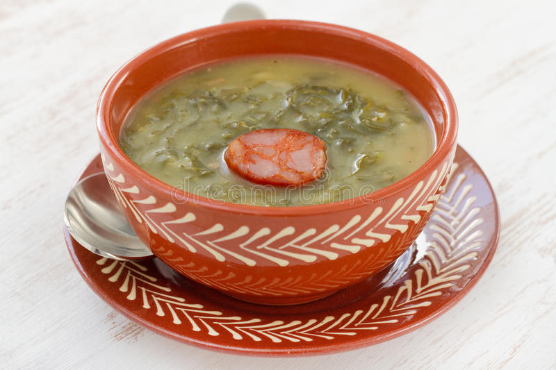 Soup with sausage
