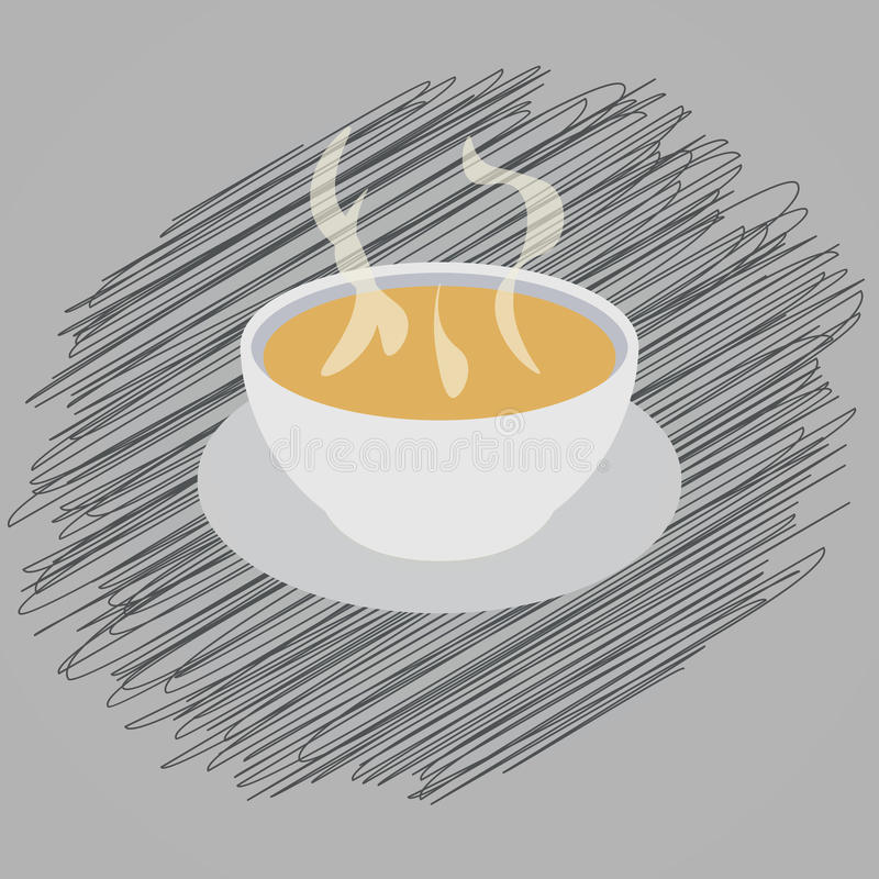 soup scribble royalty free illustration