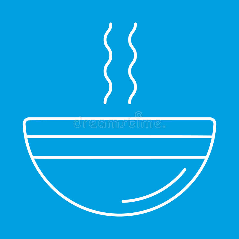 Soup thin line icon. For web and mobile devices stock illustration