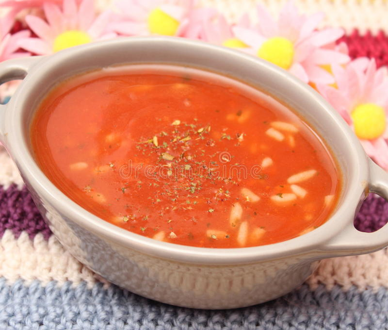 Soup of tomatoes royalty free stock image