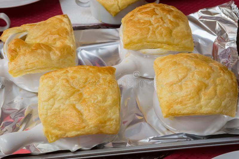 Bisque Under Puff Pastry Dome royalty free stock image