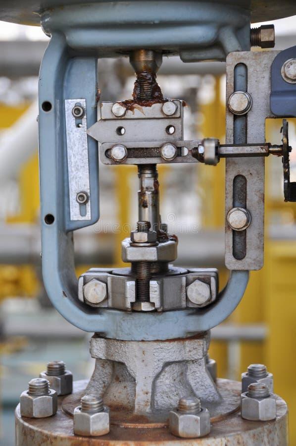 Soupape de commande, indicateur de la position de moniteur ou du statut de fonction de valve, valve de contrôle de la pression ou image libre de droits