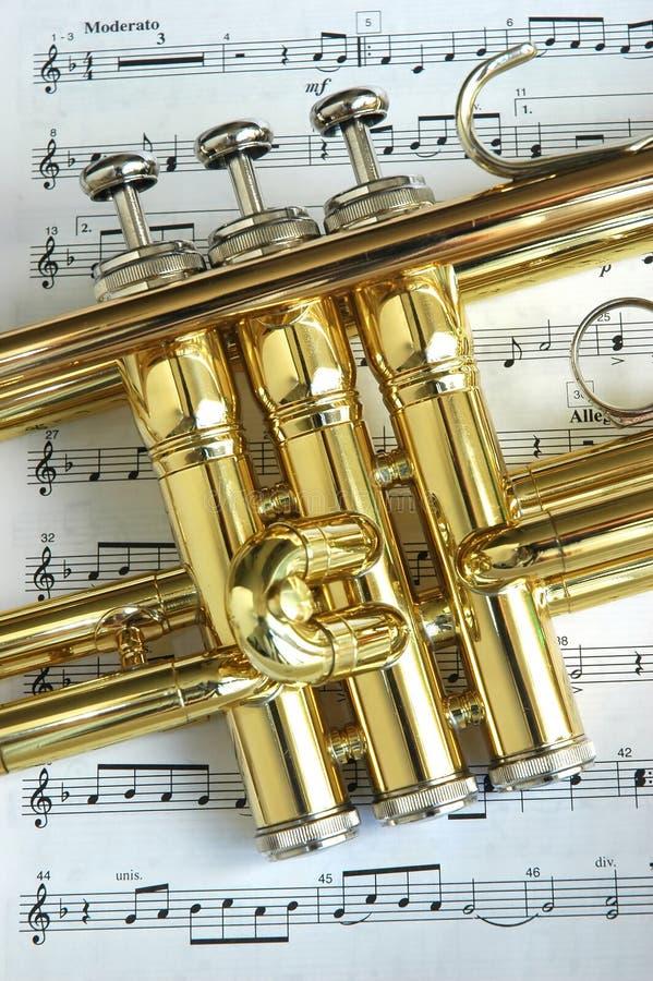 Soupapes de trompette photos libres de droits