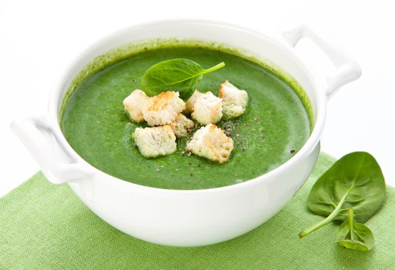 Soupe à épinards photos stock
