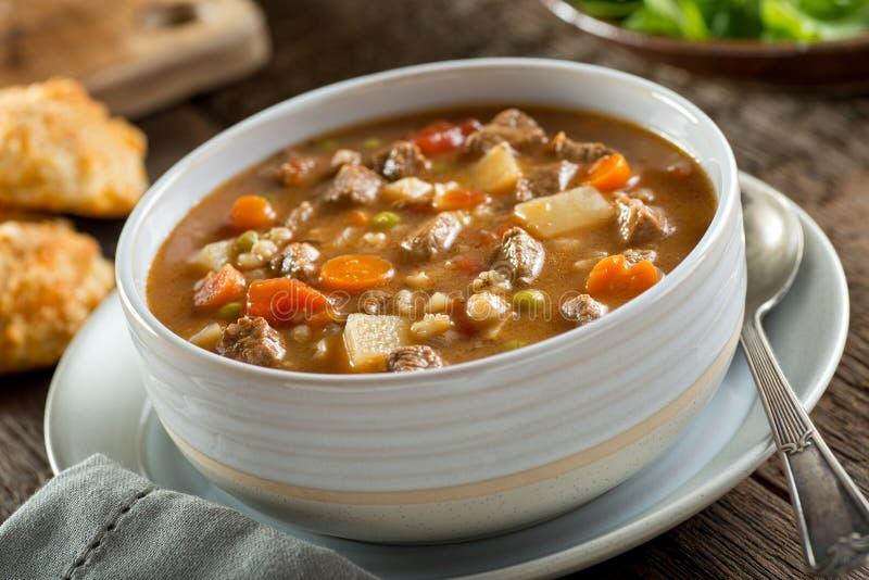 Soupe à boeuf et à orge images stock