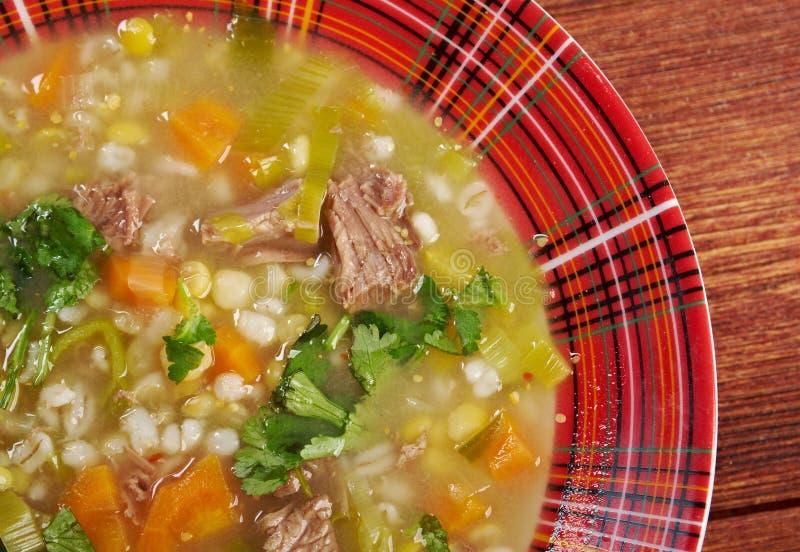 Soupe à bouillon écossais photos stock