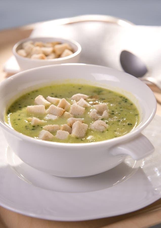 Soupe à brocoli photos stock