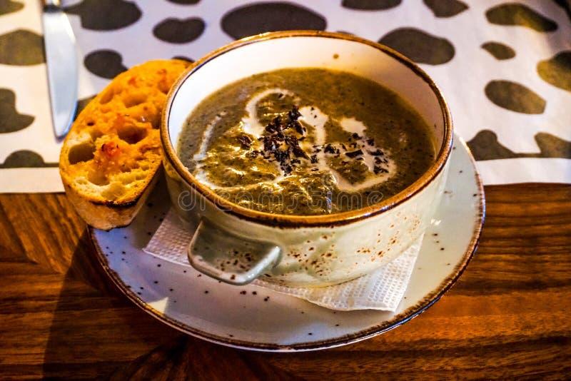 Soupe à champignons crémeuse photos libres de droits