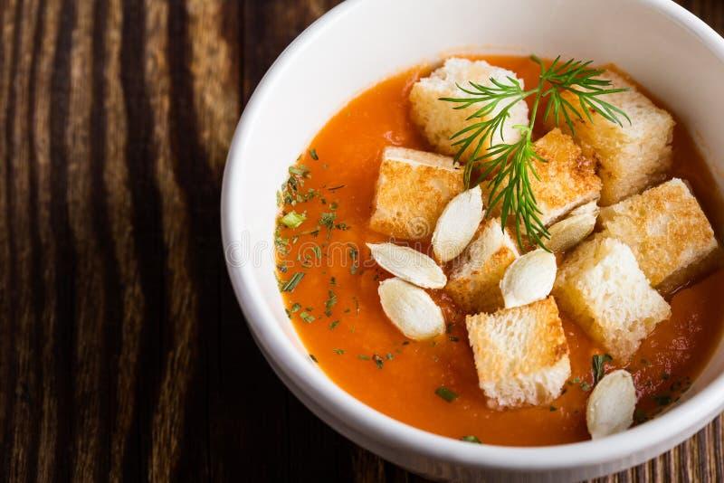 Soupe à courge de Butternut photo stock